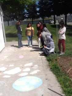 Earth DaySidewalk Chalk Art