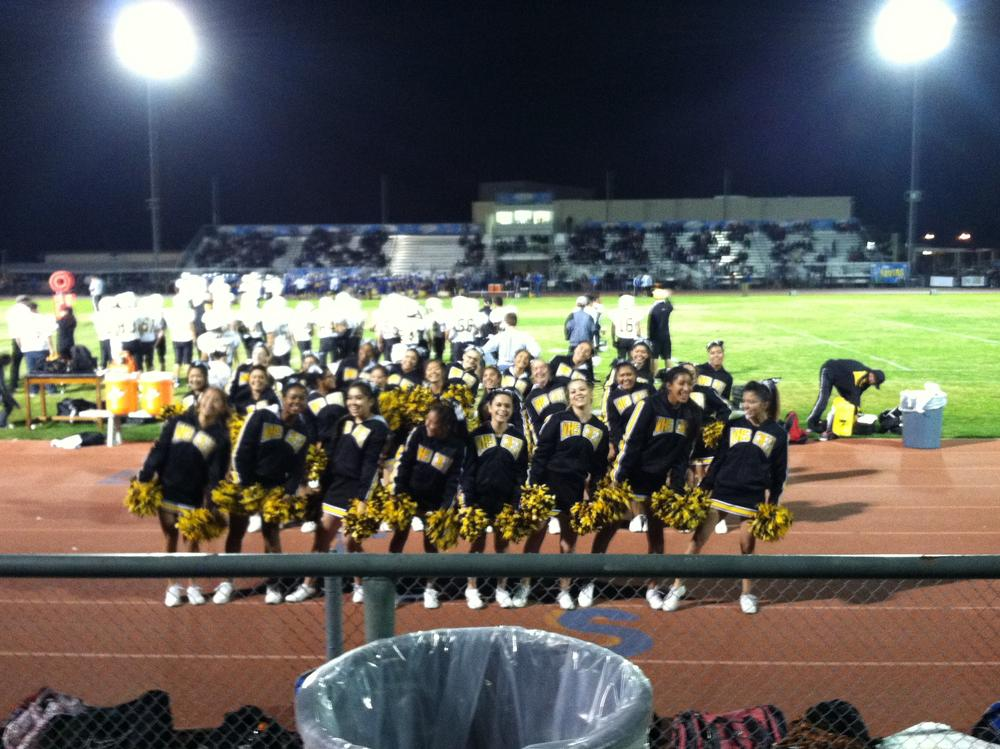 cheer at schs fb game 2013