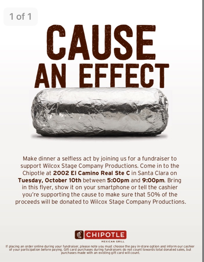 Chipoltle Fundraiser for Theater Productions